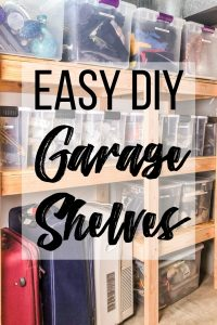 easy DIY garage shelves