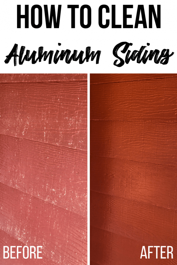 before and after aluminium siding cleaning