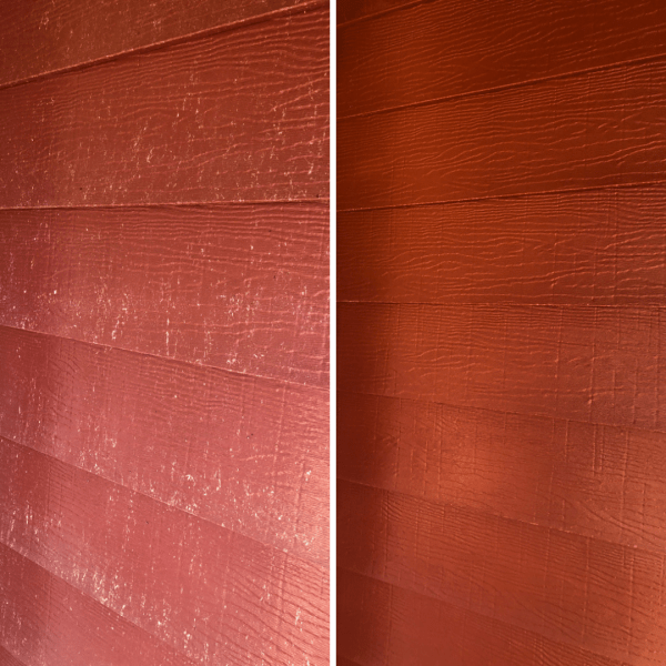 aluminum siding before and after cleaning
