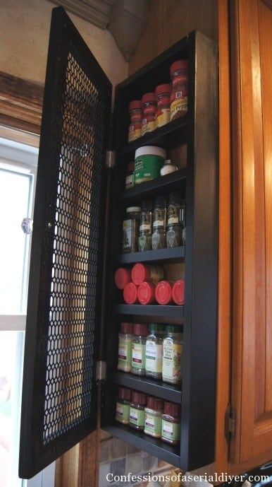 End Cabinet Spice Rack