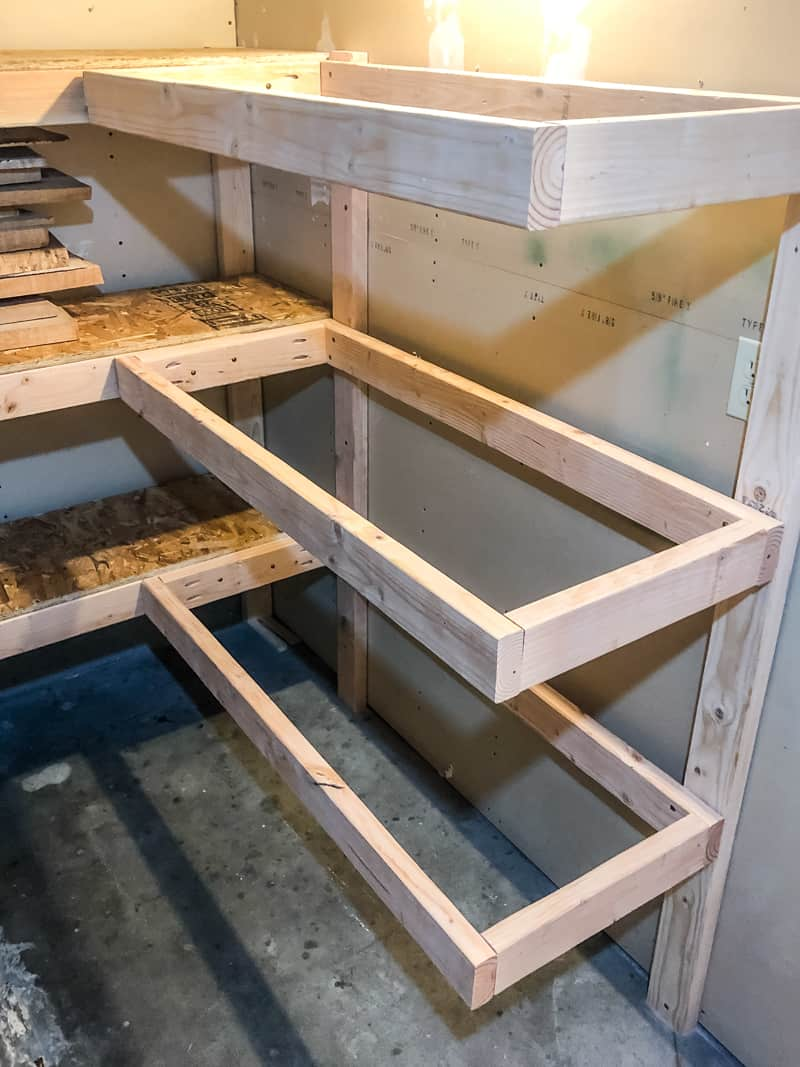 assembling corner storage shelves