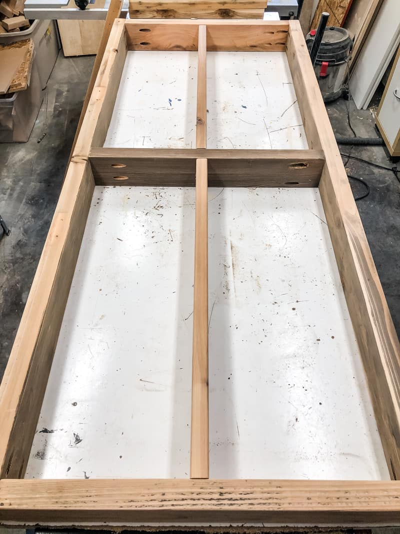 potting bench shelf frame with extra support