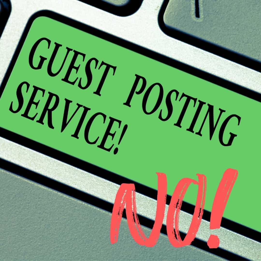 No guest posts!
