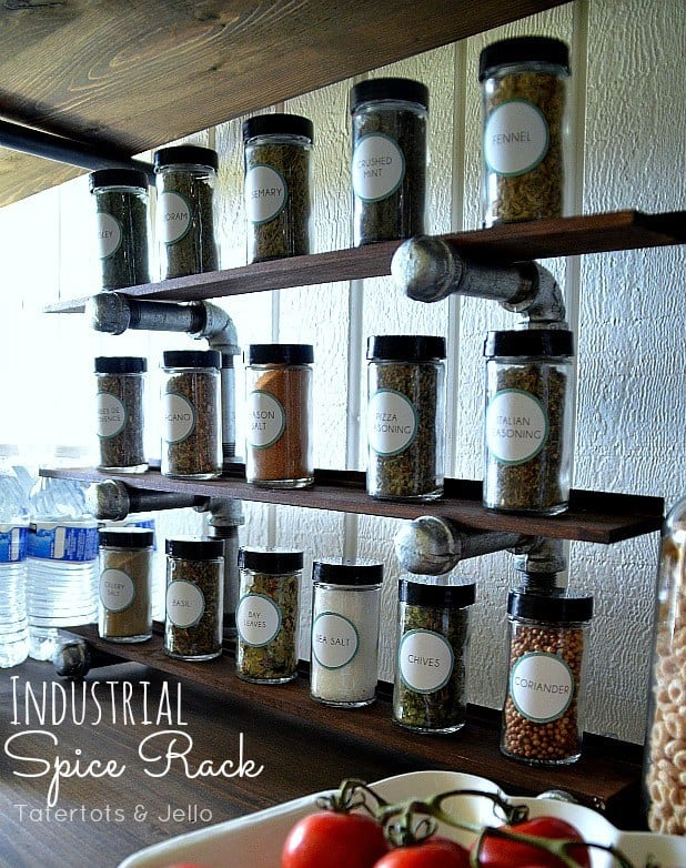 Industrial Spice Rack