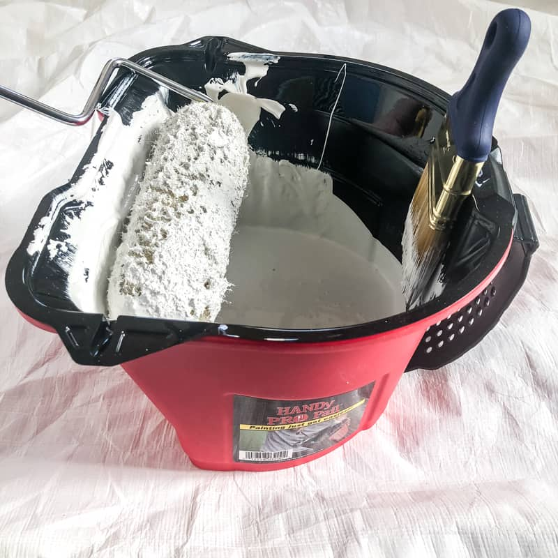HANDy Pro Pail with roller and paint brush