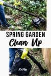 Spring Garden Clean Up with Ryobi outdoor tools