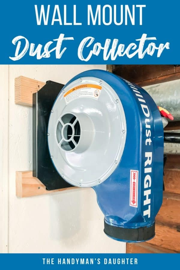 wall mount dust collector from Rockler