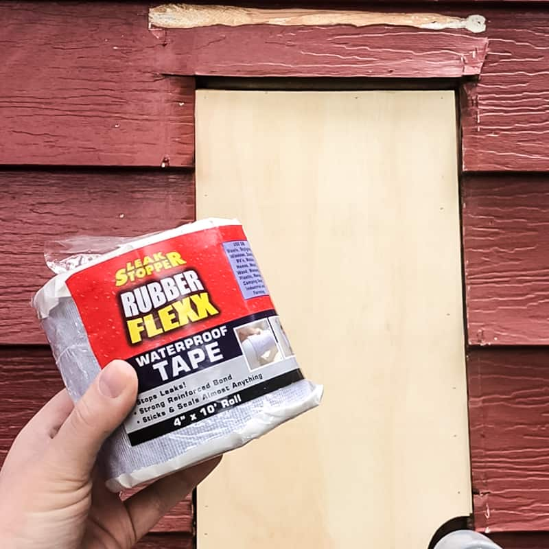 waterproof tape to be applied to aluminum siding repair