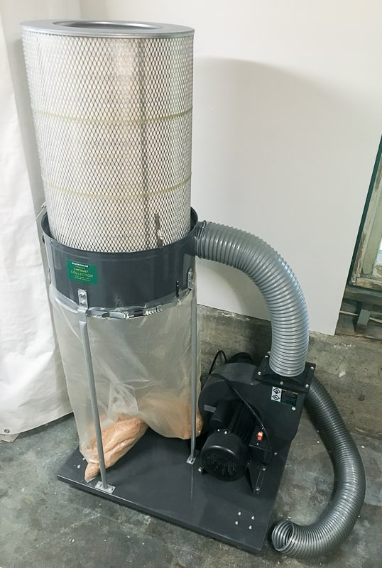 2 HP dust collector from Harbor Freight with 0.5 micron canister filter