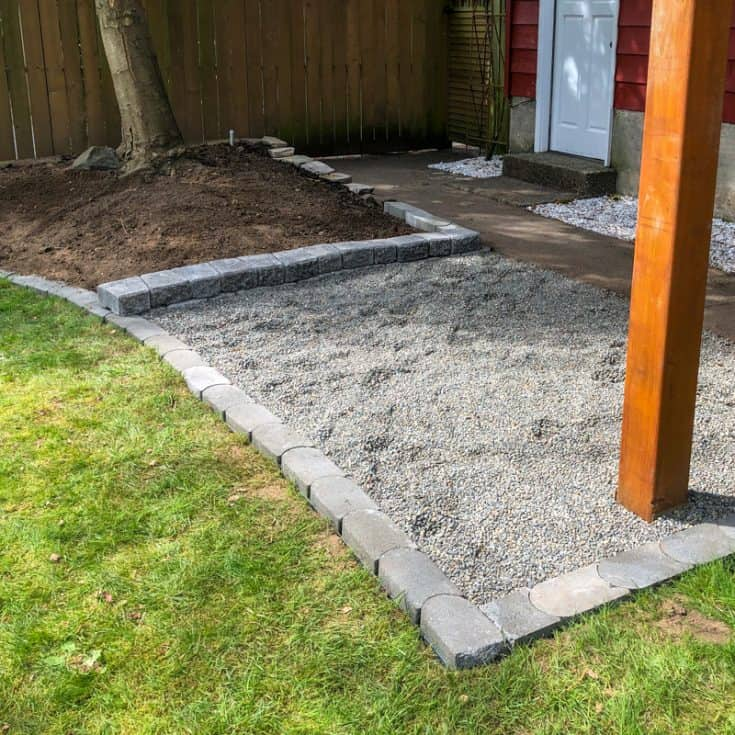 Backyard Makeover Week 3 - Landscaping Rocks and Pavers