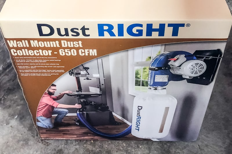 Rockler Dust Right Wall Mount Dust Collector box