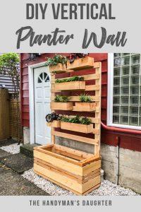 DIY Vertical Garden Planter Wall
