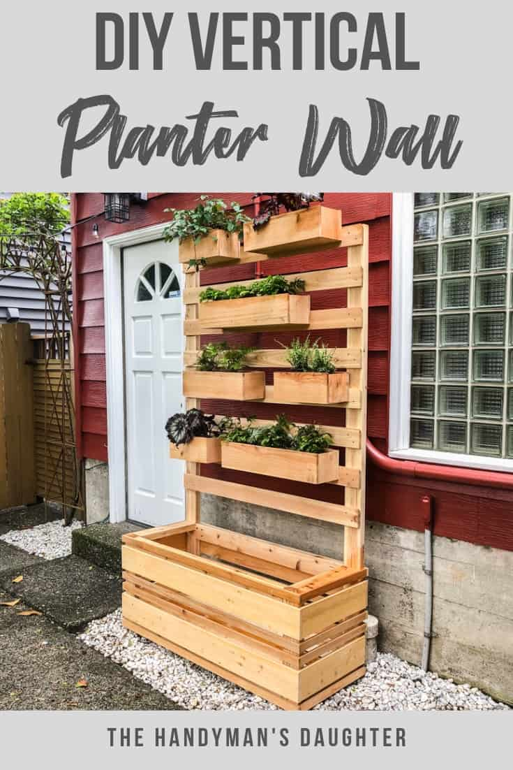 Do It Yourself Home Design: DIY Vertical Garden Wall Planter With Plans