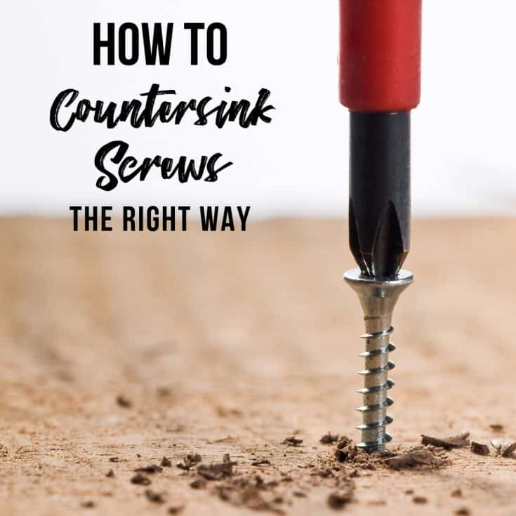 How to countersink screws the right way