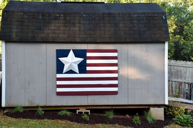 DIY Large Wood Fence Picket American Flag Sign