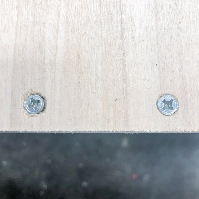 countersink screws using two different methods