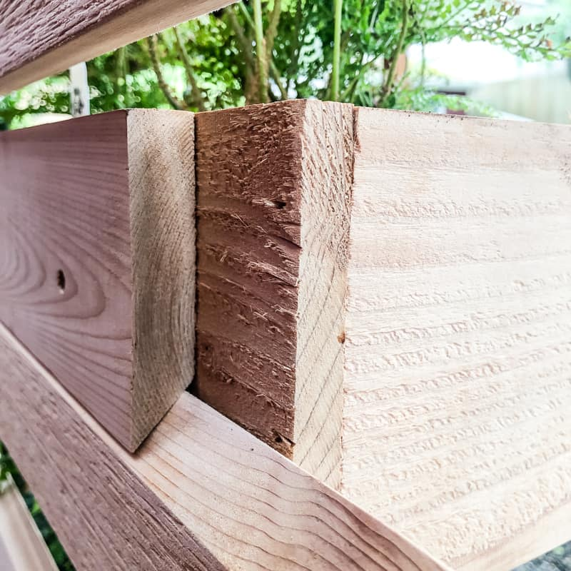 French cleat on back of planter box hooked to vertical garden wall
