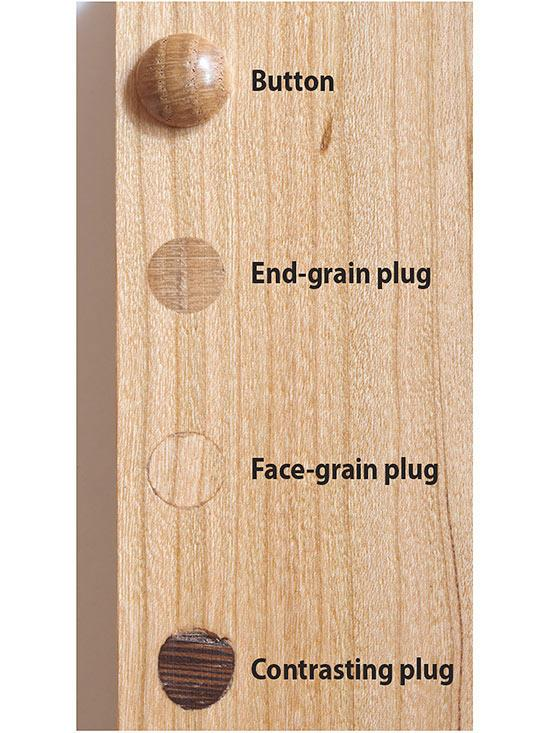 types of wood plugs