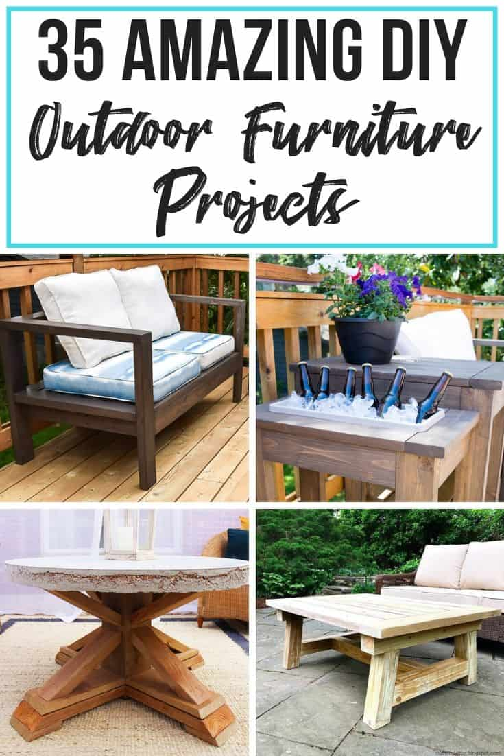 35 amazing diy outdoor furniture plans - the handyman's daughter