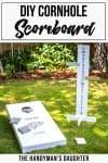 DIY cornhole scoreboard