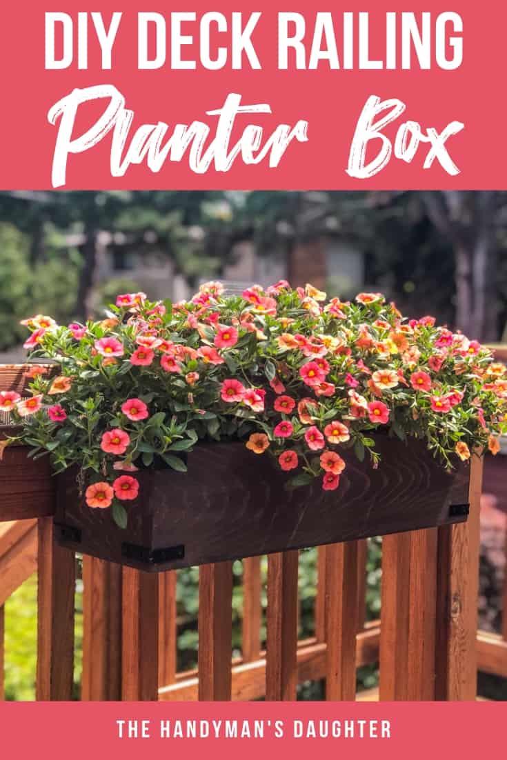DIY Deck Railing Planter Box