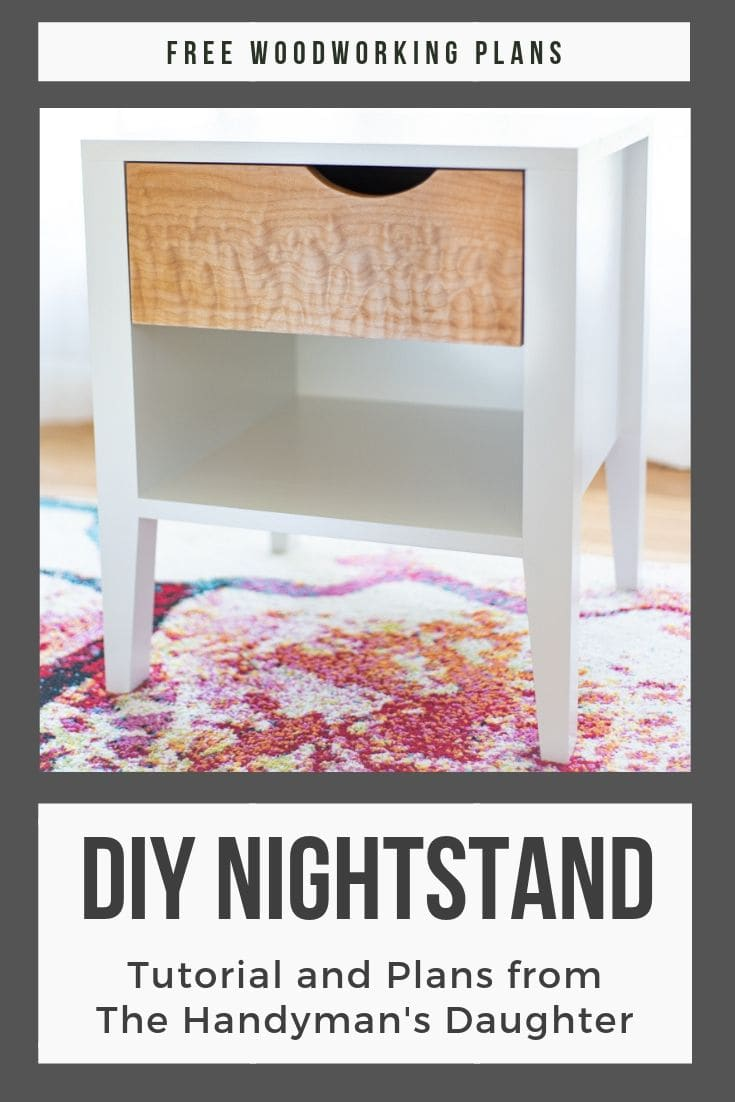 DIY Nightstand with free woodworking plans
