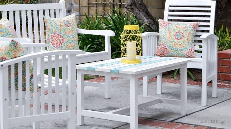Easy $15 DIY Outdoor Coffee Table