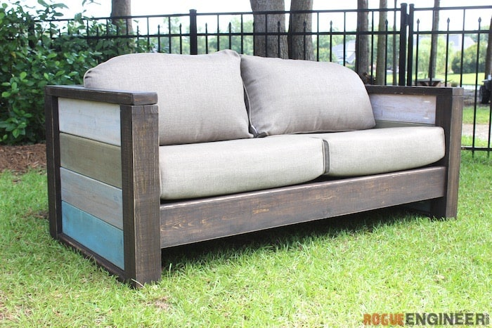 Wood Plank Loveseat