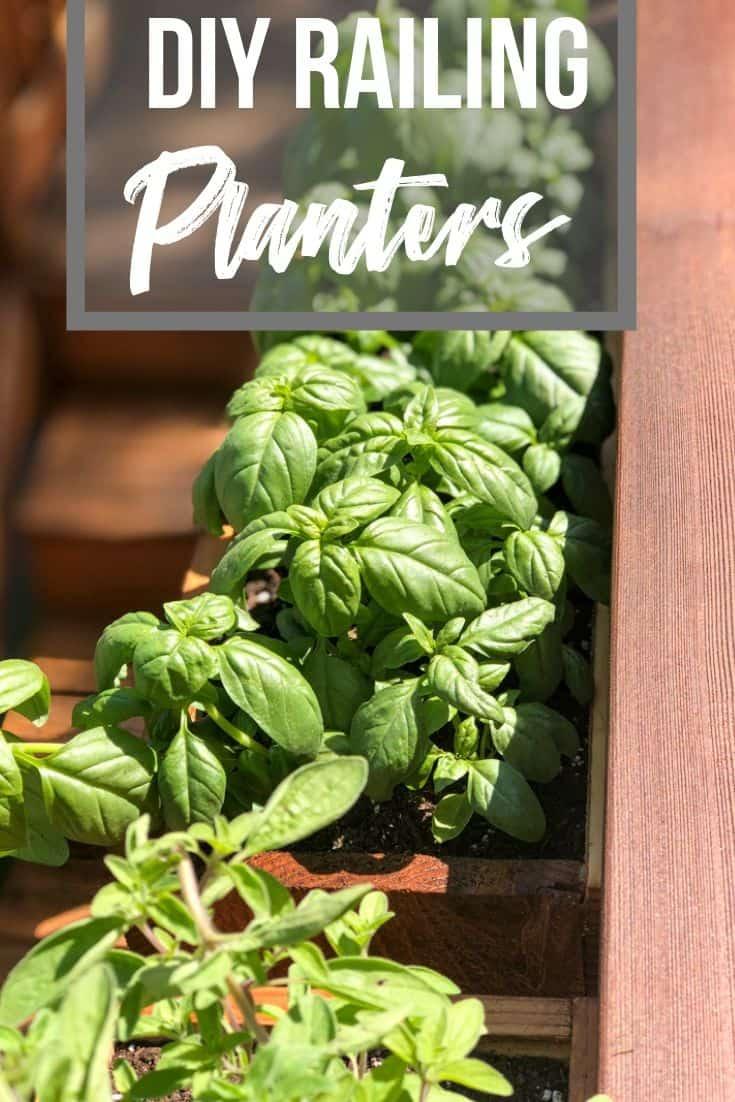 DIY railing planters