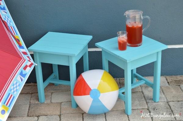 Easy DIY Patio Tables