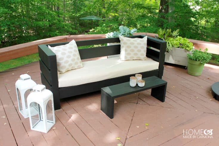Outdoor Sofa and Coffee Table