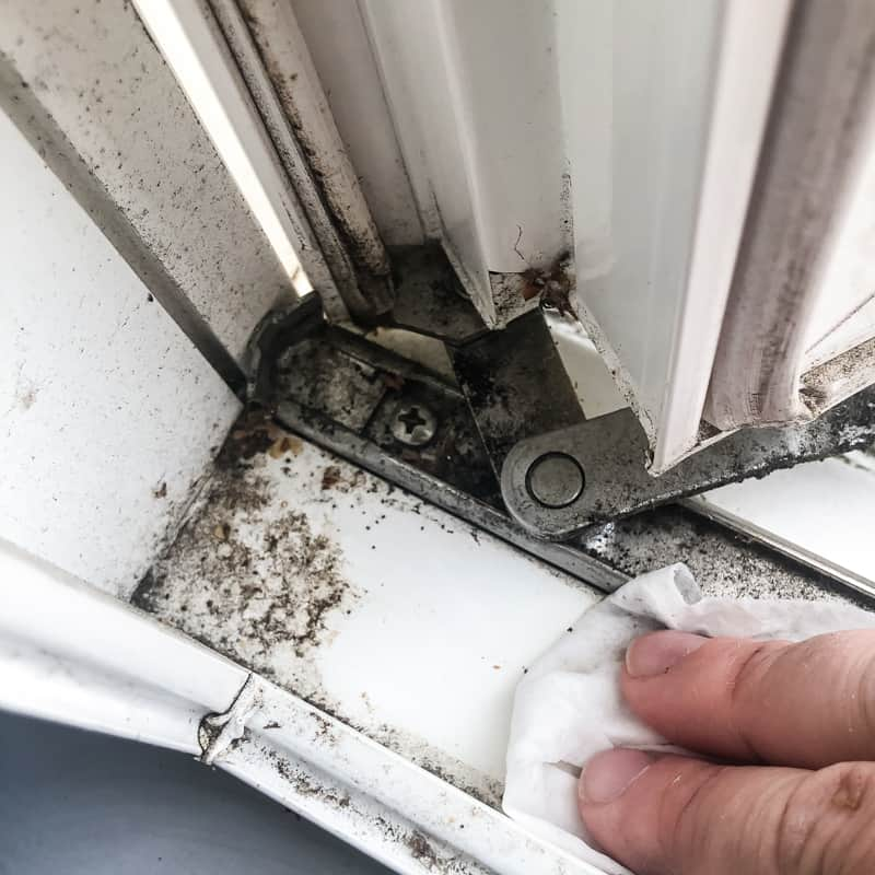 cleaning window frame before installing casement window air conditioner