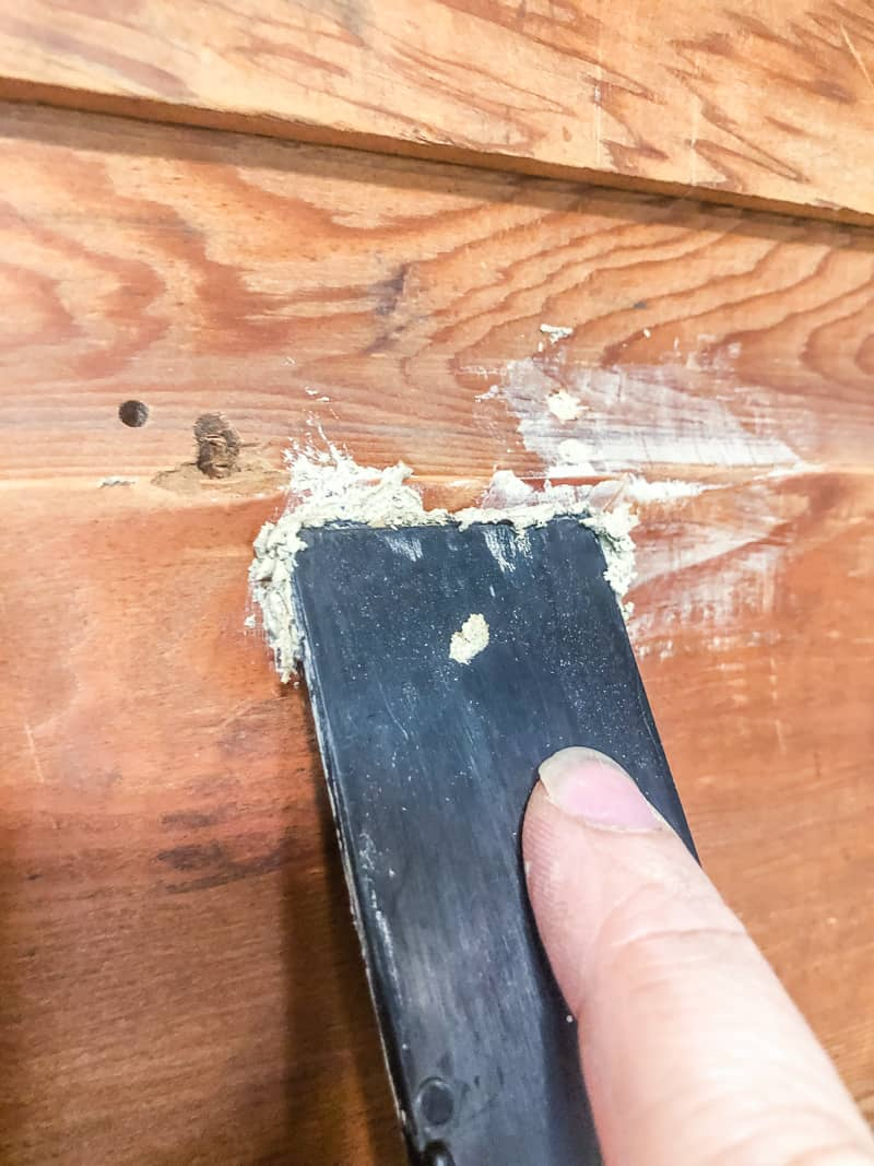 filling nail holes in wood paneling before painting