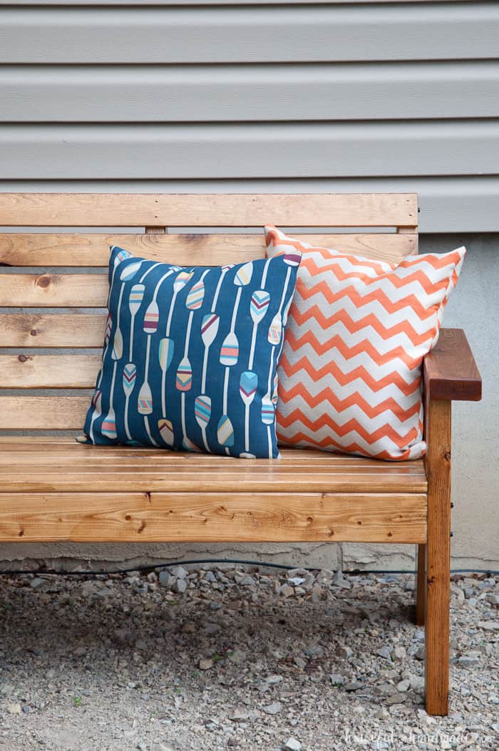 Slatted Outdoor Sofa