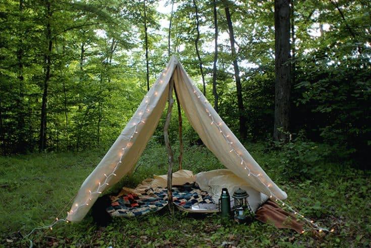 DIY Canvas Tent