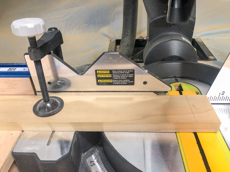 hold down clamp on miter saw