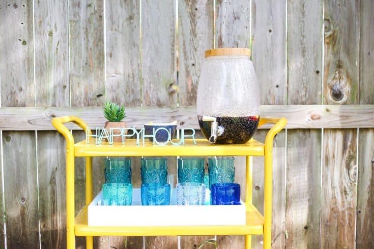 DIY Backyard Bar Cart