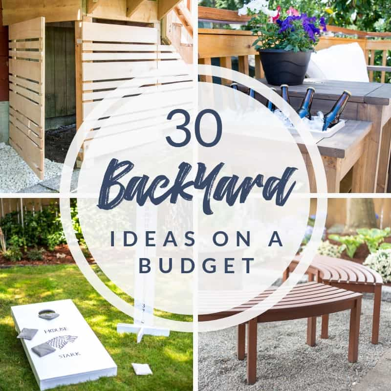 30 backyard ideas on a budget collage
