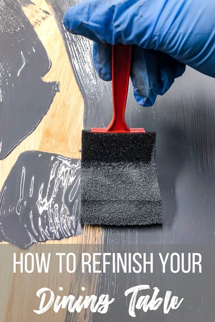 How to refinish your dining table
