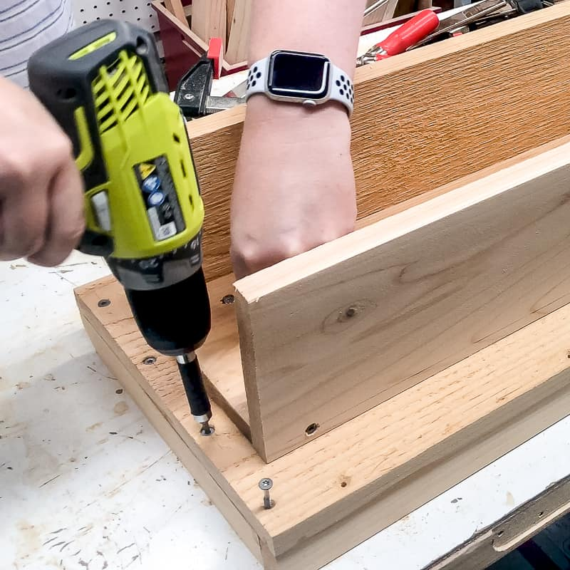 screwing rim to outside edge of balcony railing table with countersink screws