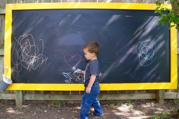 Giant Outdoor Chalkboard