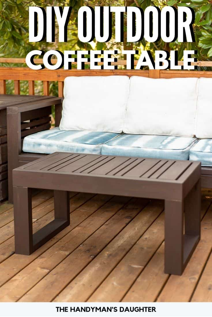 DIY outdoor coffee table with free woodworking plans