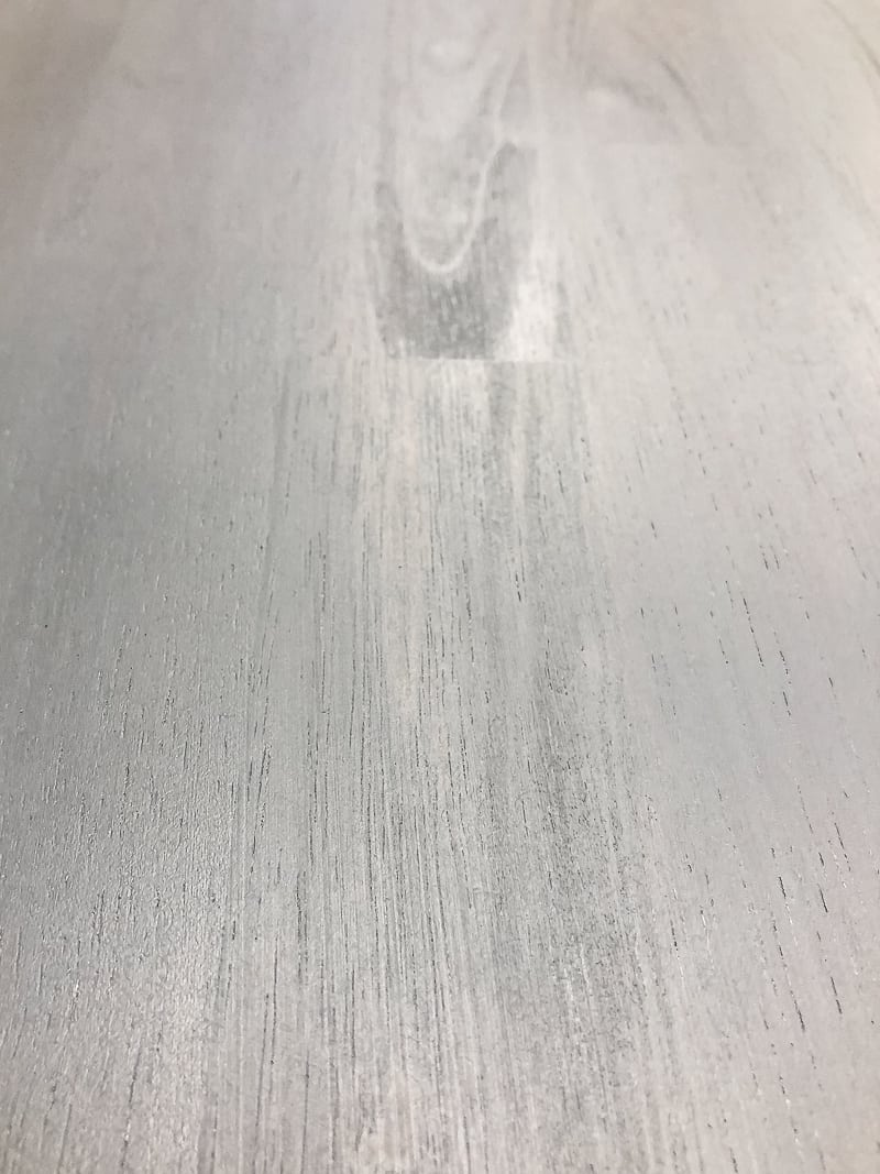 grey wood stain on maple tabletop