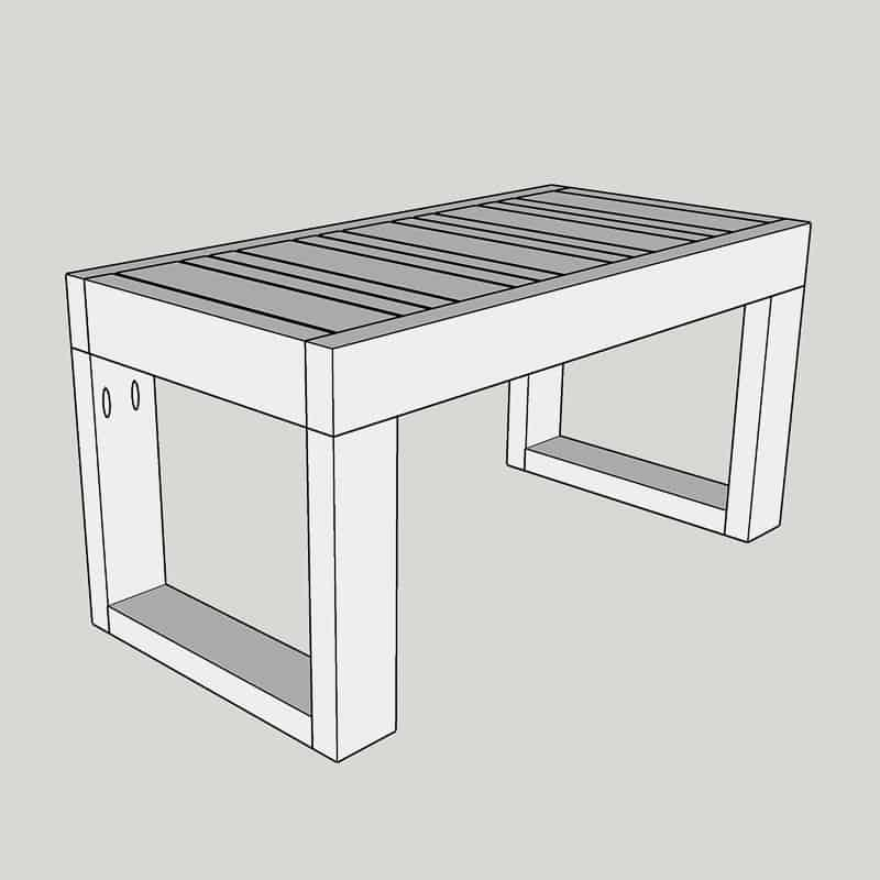 3D model of DIY outdoor coffee table