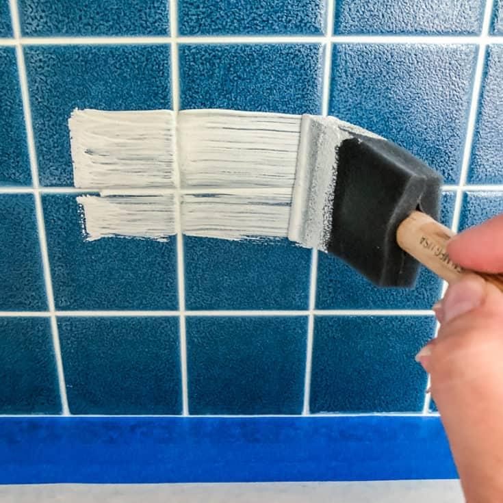 how to paint tile backsplash