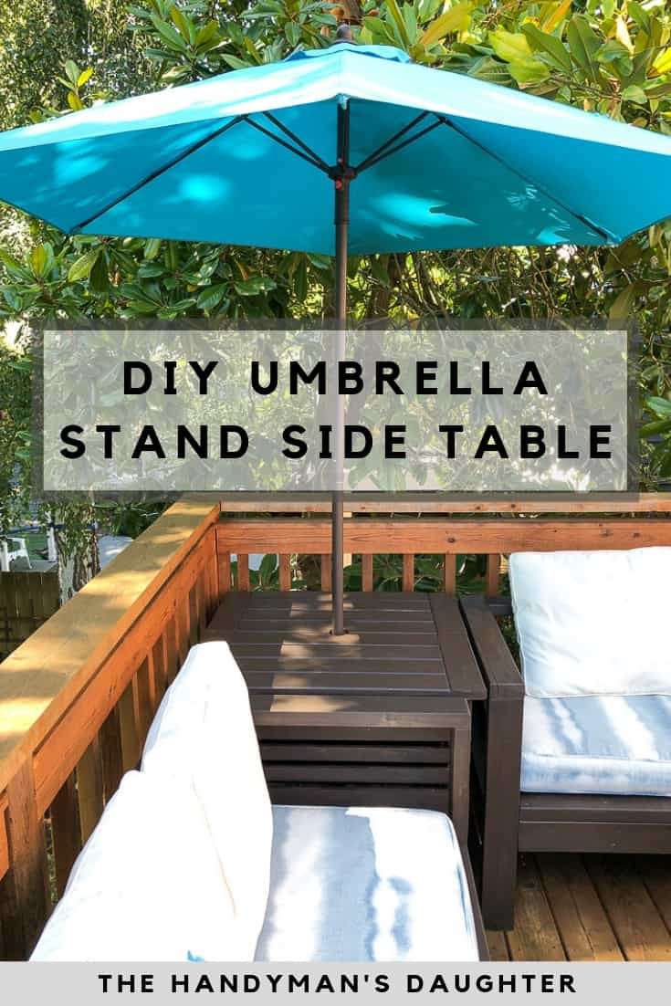 DIY umbrella stand side table