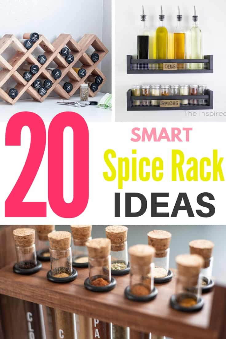 20 smart DIY spice rack ideas