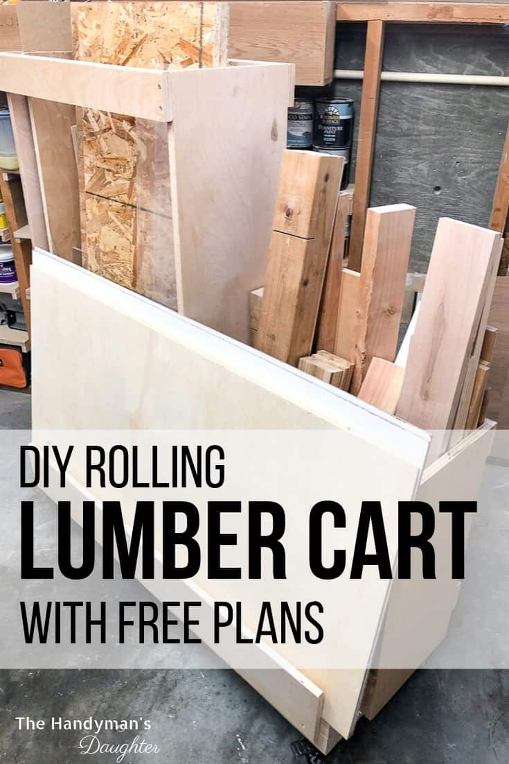 DIY rolling lumber cart with free plans