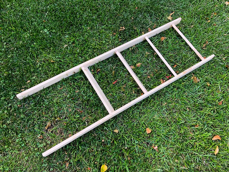 completed blanket ladder ready for stain