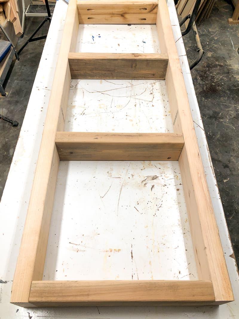 DIY lumber cart base frame